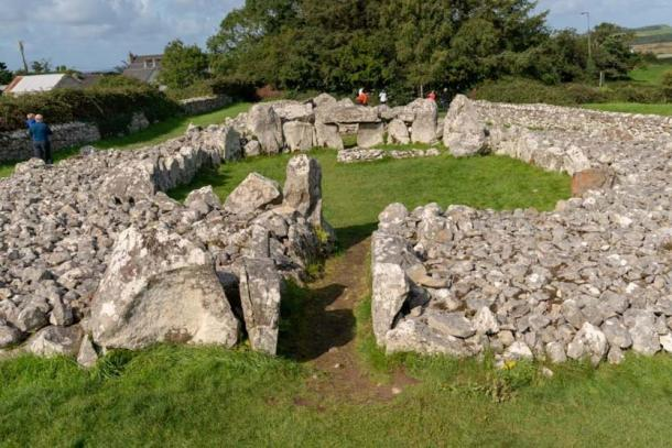 The central court can be seen here at Creevykeel Court Tomb. Credit: Ioannis Syrigos