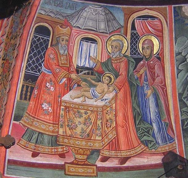 The circumcision of Christ, Preobrazhenski monastry, Bulgaria. (Public Domain)