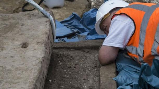 The coffin was found to be filled with dirt, possibly after looting