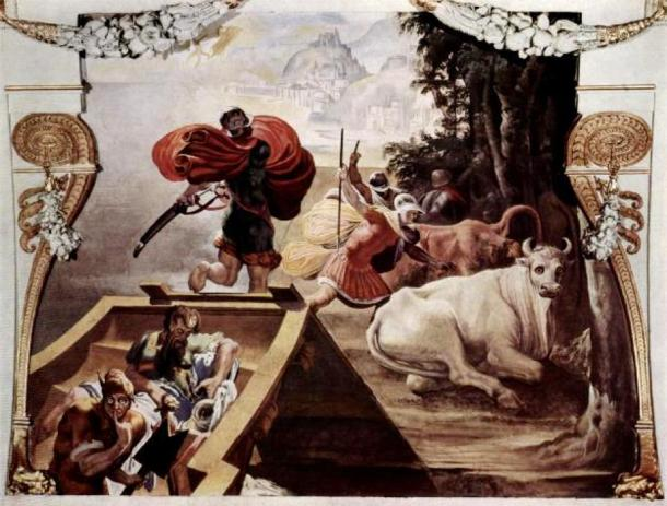 'The companions of Odysseus rob the cattle of Helios' (1554-1556) by Pellegrino Tibaldi. (Public Domain)