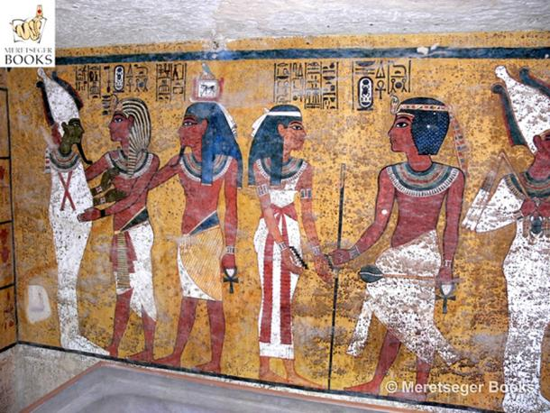 The contentious North wall in the tomb of Tutankhamun, behind which, according to Dr Nicholas Reeves, lies the burial of the enigmatic Nefertiti. (Photo: Meretseger Books)