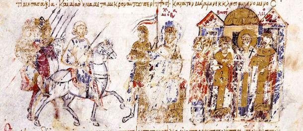 The coronation of Basil I as emperor of the Byzantine Empire. (Cplakidas / Public Domain)
