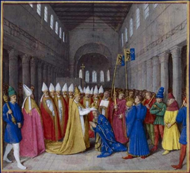 The coronation of Charlemagne, he ruled the empire of the Romans and Franks. (Yann / Public Domain)