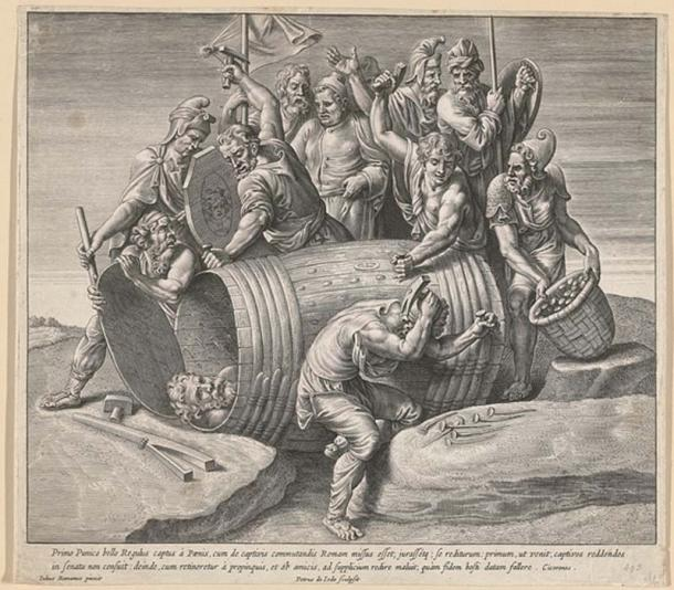 The death of Marcus Atilius Regulus, showing being nailed into a tub by the Carthaginians. (Rijksmuseum / Public Domain)