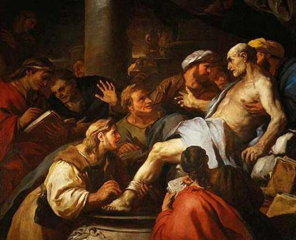 'The death of Seneca' (1684), painting by Luca Giordano, depicting the suicide of Seneca the Younger in Ancient Rome.