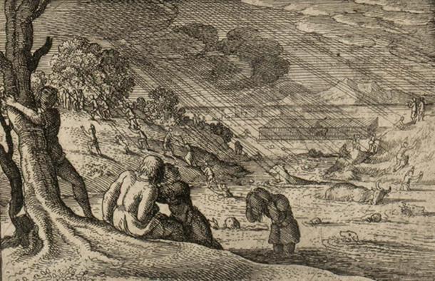 The deluge of the sunken kingdom, Cantre'r Gwaelod. (Jason.nlw / Public Domain)