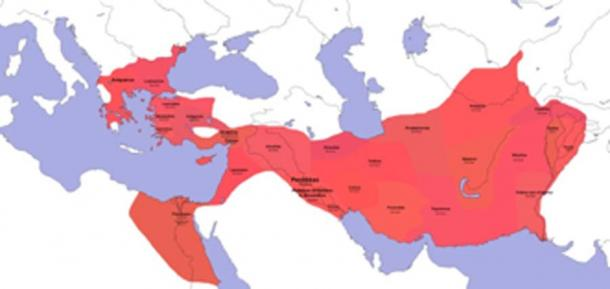 The distribution of satraps in the Macedonian Empire after settlement in Babylon. (Fornadan / CC BY-SA 3.0)
