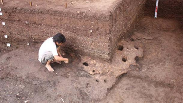 The excavation site at Rach Nui in Southern Vietnam.