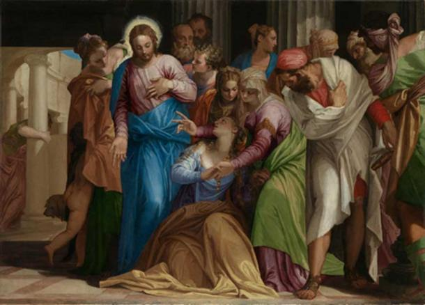 The exorcism of Mary Magdalene. (Aavindraa / Public Domain)