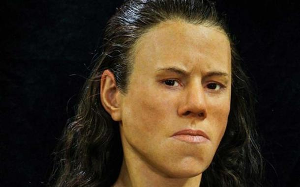 The face of the teenager 'Avgi' reconstructed from the 9000-year-old skull found in Greece. (Image: Oscar Nilsson )