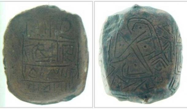 The face (Vassia Atanassova – Spiritia/CC BY SA 3.0) and back of the nearly 7,000-year-old Gradeshnitsa tablet