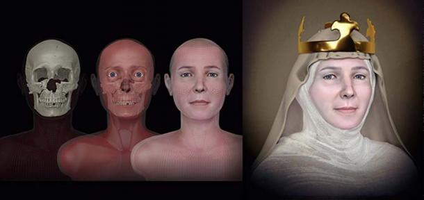 The facial reconstruction of Queen Judith of Thuringia - a project organized by archaeologist Jiri Sindelar. Source: Cicero Moraes / CC BY-SA 4.0.