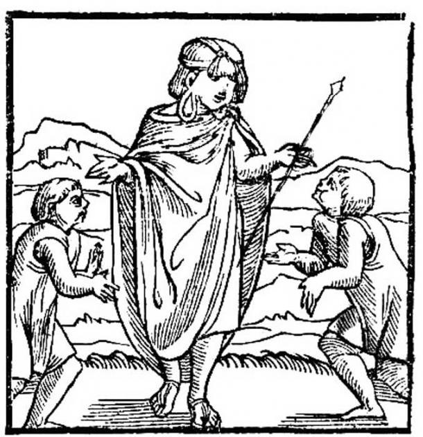 The first image of the Inca in Europe, Pedro Cieza de León, 'Cronica del Peru', 1553. (Public Domain)