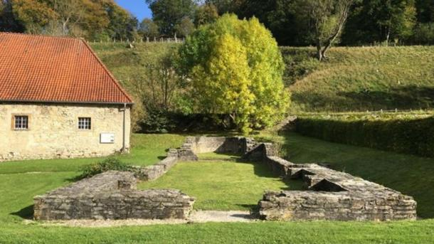 The foundations of the church at Dalheim, Germany. (C. Warinner, Institute for Evolutionary Medicine, University of Zürich, via Science Advances CC BY NC 4.0)