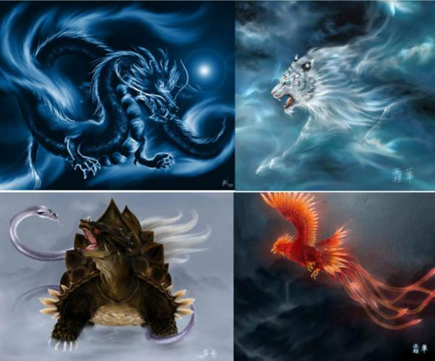 The four mythological symbols of China