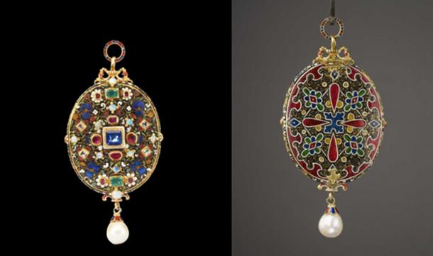 The front and back casing of the Grenville Jewel.