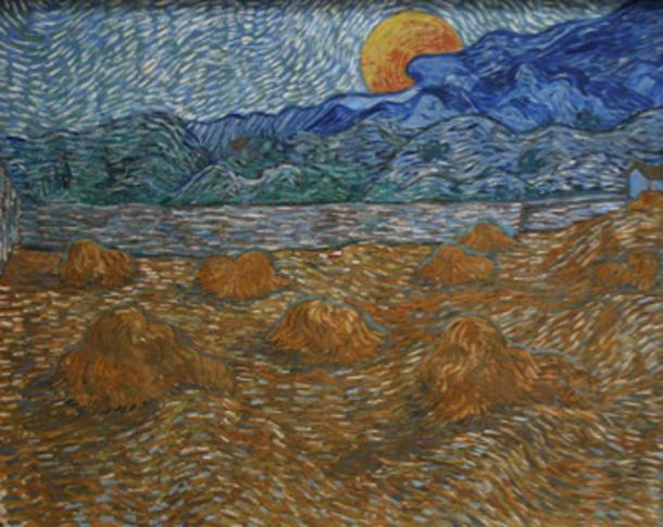 The fullness of the Harvest Moon allowed farmers to harvest into the night. (Szilas / Public Domain)