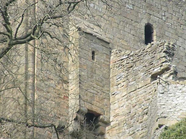The garderobe at Peveril Castle, Derbyshire, England.