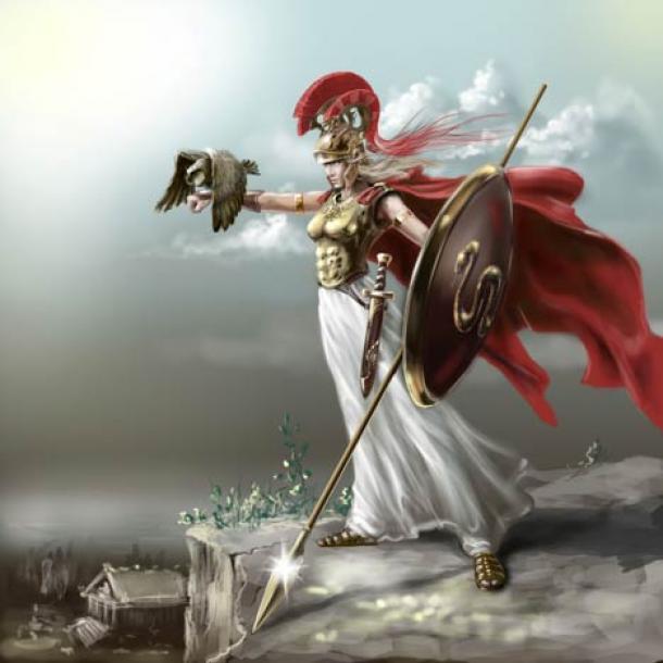 The goddess Athena, deity of the Acropolis of Athens. (Геннадий Кучин / Adobe Stock)