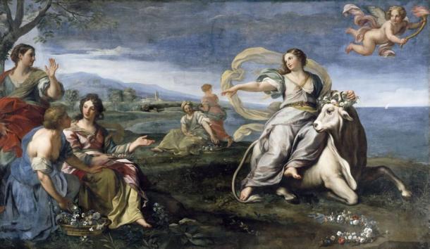 The goddess Europa