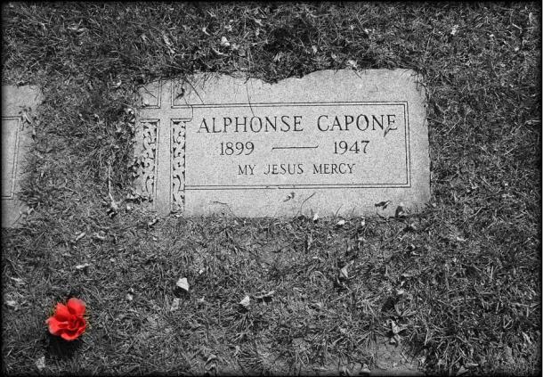 The grave of Al Capone in Hillside, Illinois