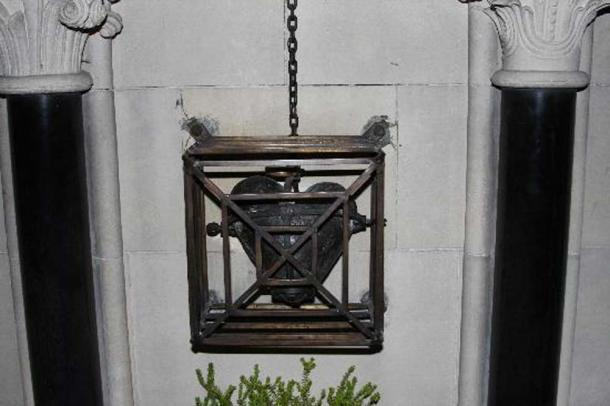 The heart of St Laurence O'Toole relic at Christ Church Cathedral, Dublin. (Image: Tripadvisor).