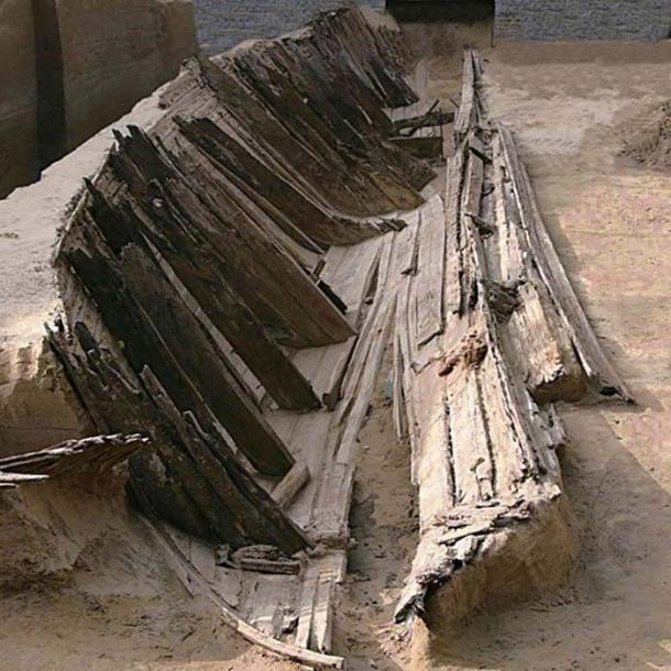The hull of the ship was cracked, suggesting it was hit and took on water, leading to it being wrecked some 700 years ago