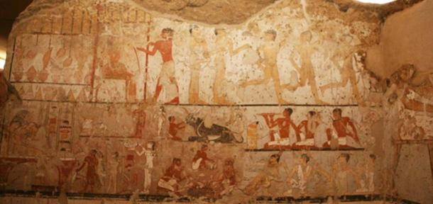 The images and colors have been well-preserved for their age. (Egyptian Ministry of Antiquities)