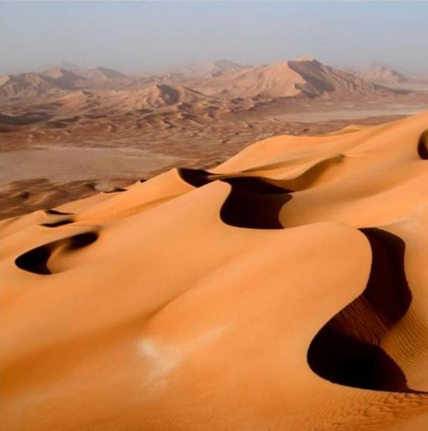 The incredibly arid Rub' al Khali.