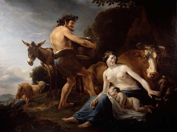 'The infancy of Zeus' (1648) by Nicolaes Pieterszoon Berchem.