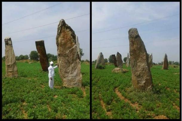 The large standing stones that form an observatory in Telangana, India
