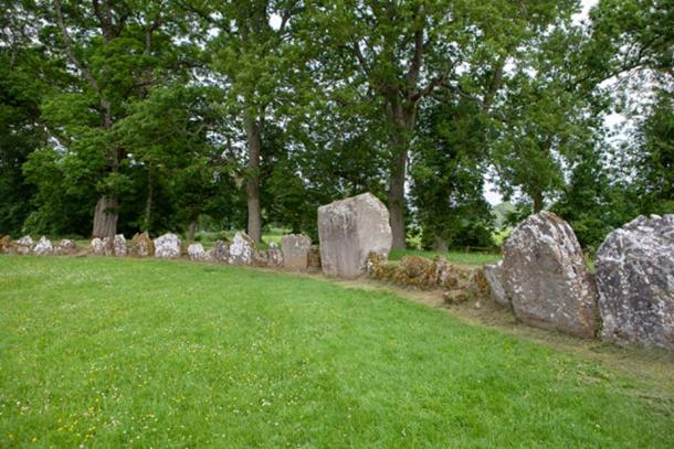 The largest monolith (center) in Grange Stone Circle