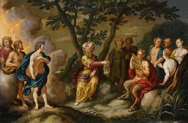 The legendary King Midas in 'Apollo and King Midas' (1634) by Simon Floquet. (Public Domain)