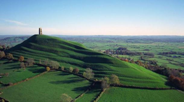 The lingam shape of England's Glastonbury Tor