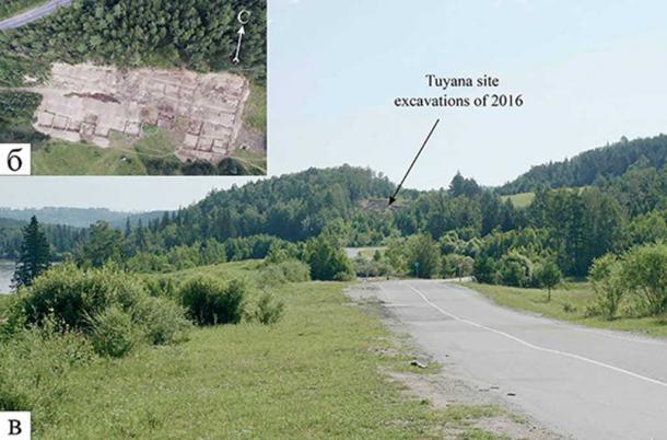 The location of the find site, near Tunka village in the Republic of Buryatia, eastern Siberia, Russia.