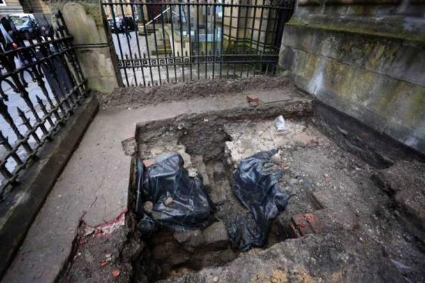 The lost section of Hadrian's Wall that has been uncovered in Newcastle, UK (Image: NCJ Media)