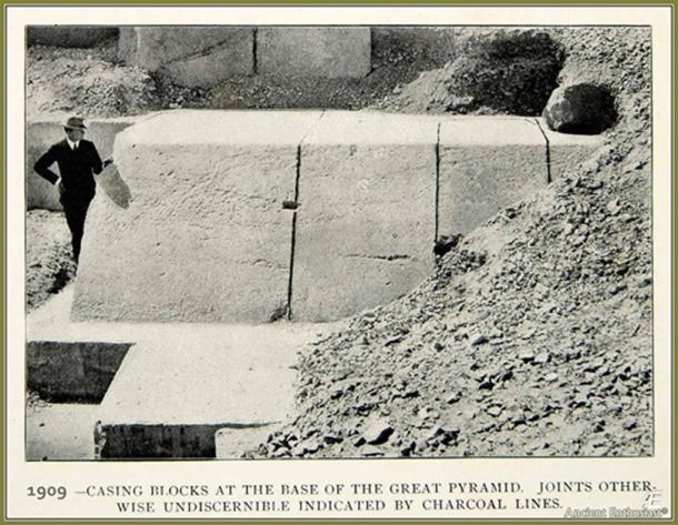 The massive casing stones of the Great Pyramid. In 832 AD the entire pyramid was still covered with them. (Author provided)