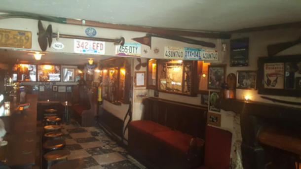 The modern-day interior of Sean's Bar, 2014