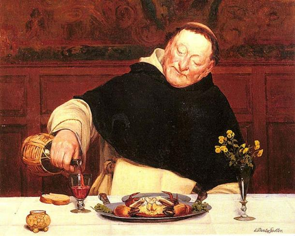 'The monks repast.' Walter Dendy Sadler.