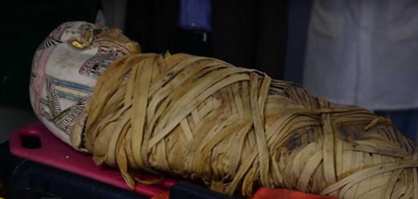 The mummy is around 2,000 years old and from Egypt.