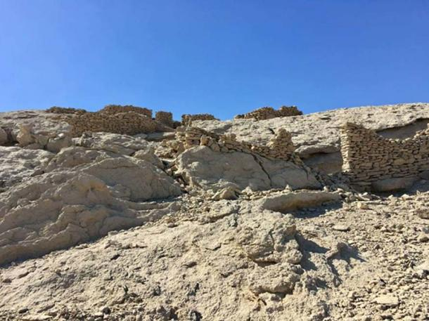"The newly discovered archaeological site was found in what experts previously believed was an ""archaeological oasis"". (Ministry of Antiquities)"