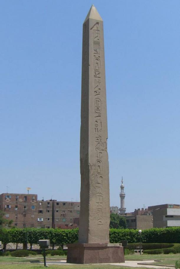 The obelisk of Senusert, possibly the oldest-known obelisk of ancient Egypt, which is from Heliopolis, where the recent finds were made. Alexander passed Heliopolis on his way south on the Nile River.