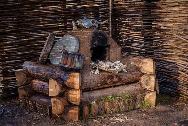 The old-style oven