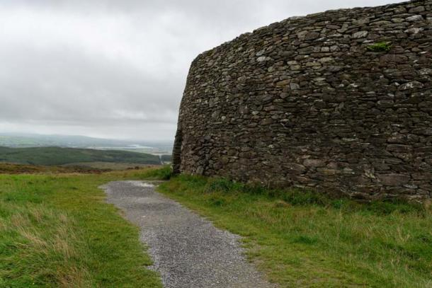The outside wall of the Grianan of Aileach. Credit: Ioannis Syrigos
