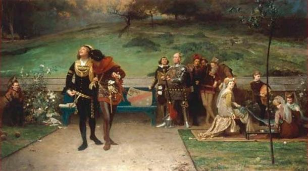 The painting Edward II and his favorite, Piers Gaveston by Marcus Stone. (Kunst für Alle / Public Domain)