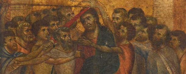 The painting was recognised to be a medieval masterpiece by Philomène Wolf. (Actéon Hôtel des Ventes de Senlis)
