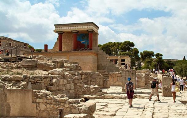 The palace complex ruins at Knossos
