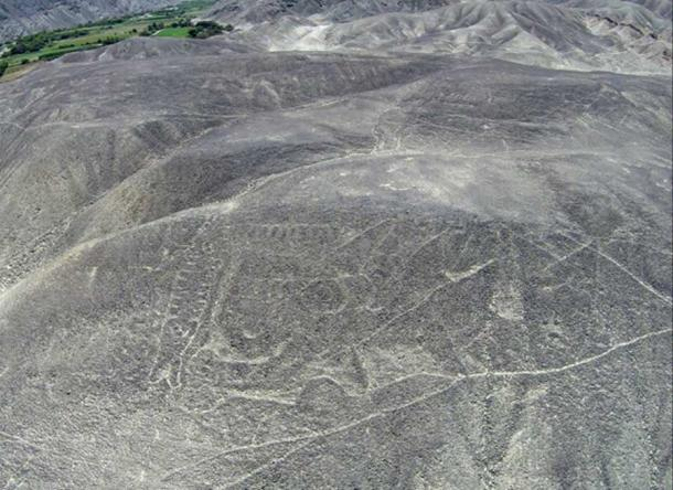 The petroglyph before restoration began in 2015. Erosion had obscured the ancient orca geoglyph.