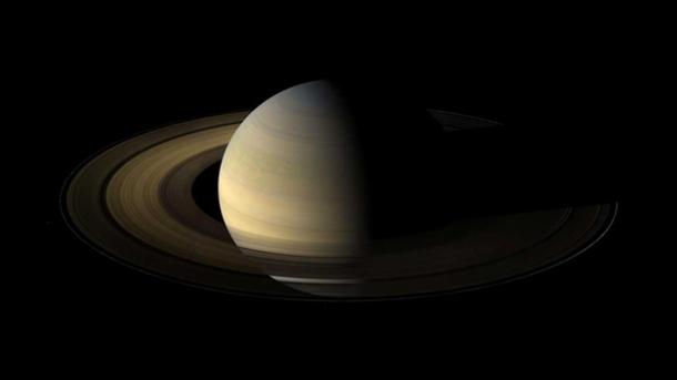 The planet Saturn, viewed by NASA's Cassini spacecraft during its 2009 equinox. Image Credit: NASA/JPL/Space Science Institute