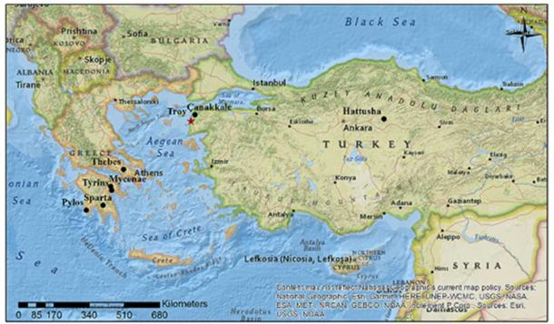 The probable location of the ancient city of Troy. Author provided